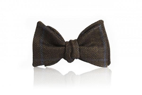 """Jacopo"", dunkelbraune Tweed Schleife"